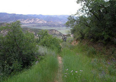 BLM wilderness trail west of ranch