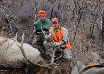 Joey with guide Michael